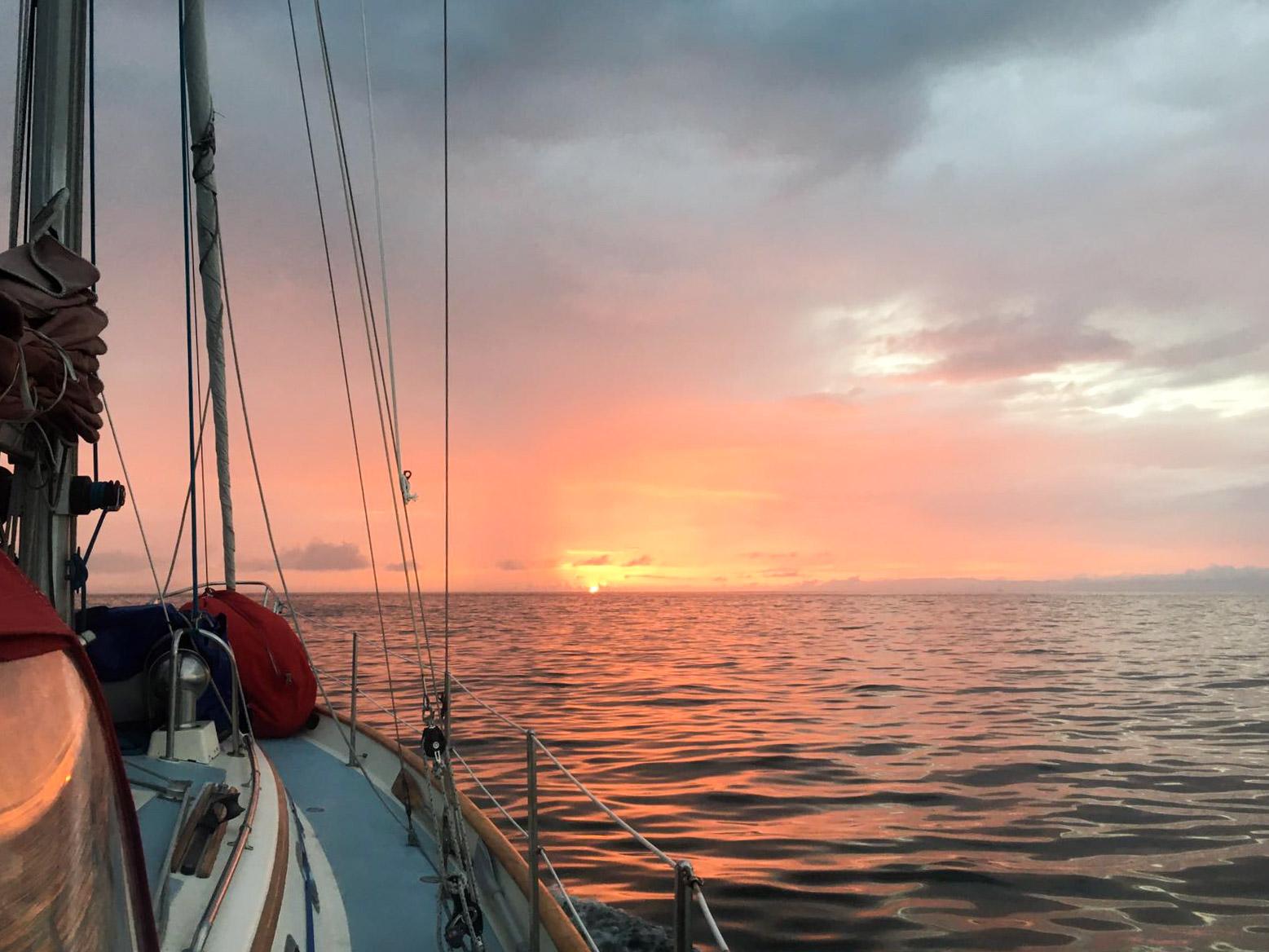 Sunset near Channel Islands